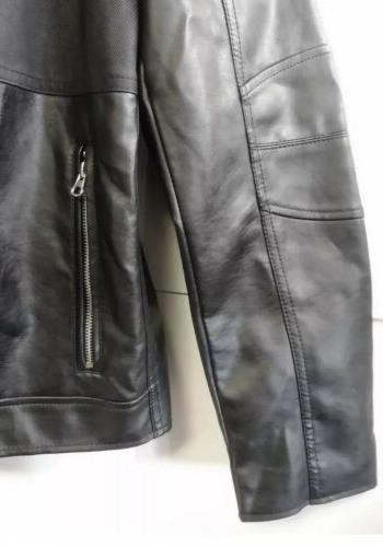Kenneth Cole Reaction Faux Leather Jacket Size Small