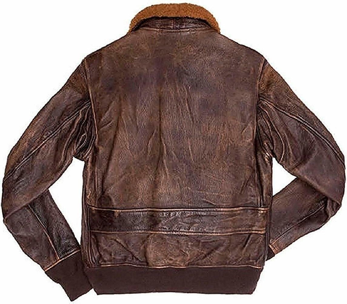 Mens Aviator G-1 Brown Jacket With