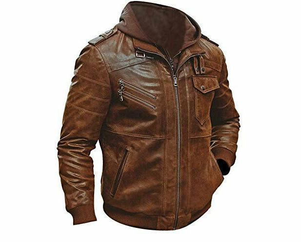 MENS GENUINE LEATHER SLIM FIT REAL RACER BIKER NEW VINTAGE ST-54