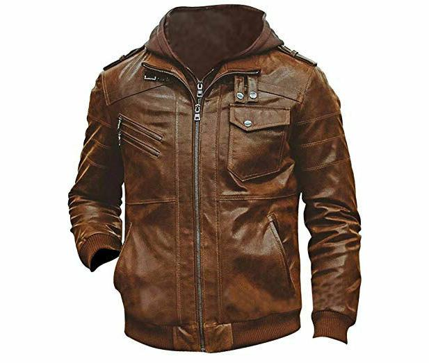 MENS GENUINE LEATHER JACKET SLIM RACER ST-54