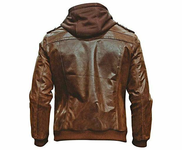 MENS GENUINE LEATHER JACKET SLIM FIT REAL CAFE RACER ST-54