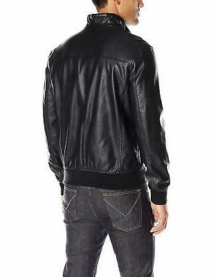 Tommy Deep Size Faux-Leather Bomber