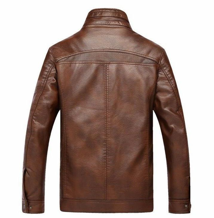 Mens Leather Coat Sweater for Winter Puffer