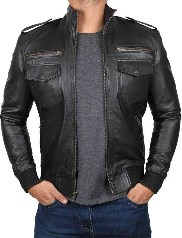 Mens Leather Jacket - Real Lambskin Leather Jackets For Men