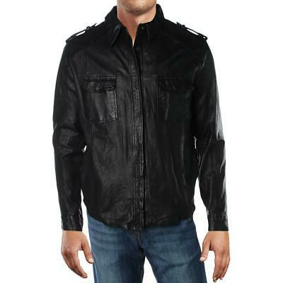 mens leather winter coat bomber jacket outerwear