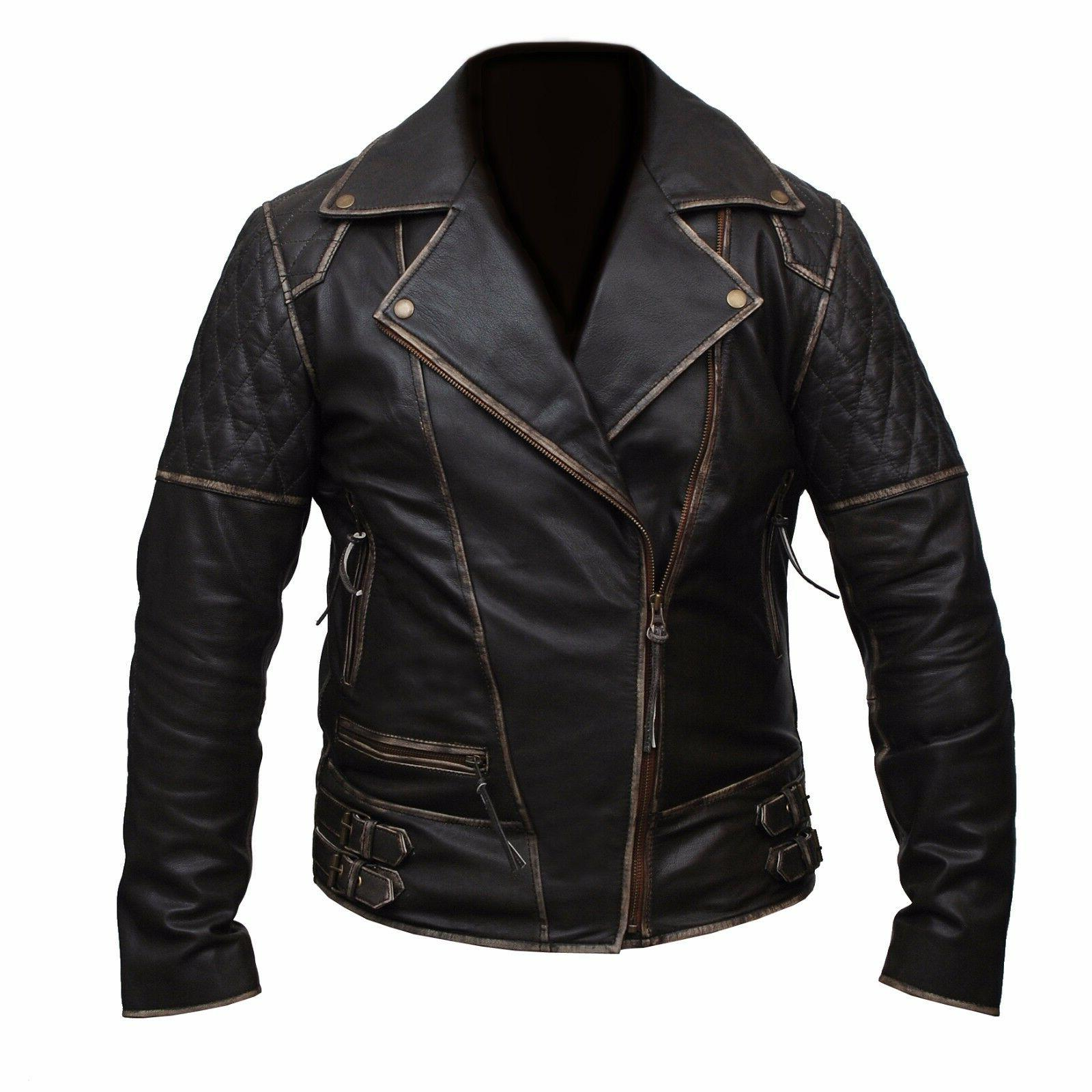 mens marlon brando biker motorcycle vintage distressed