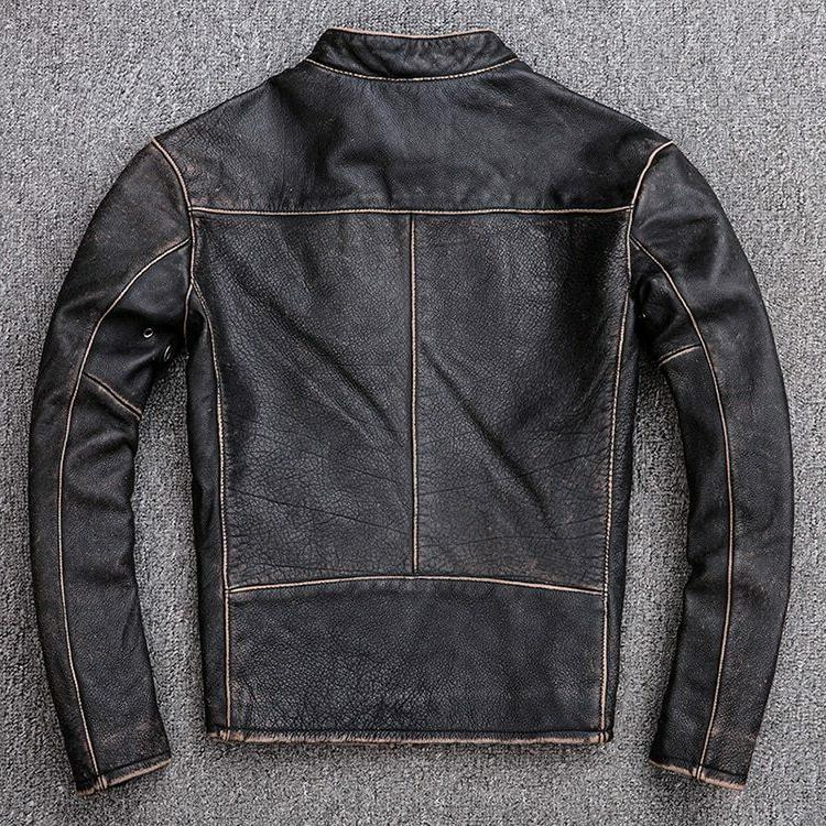 Men's Motorcycle Distressed Leather