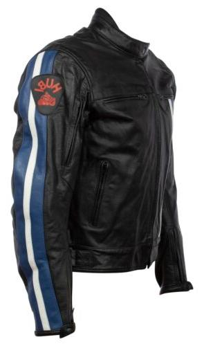 Mens S Racing Biker Jacket Black