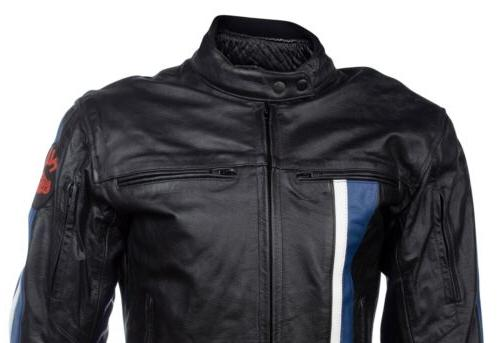 Mens S Racing Biker Motorcycle Black Reflective