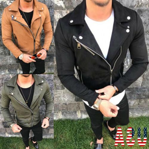 Mens Slim Leather Jackets