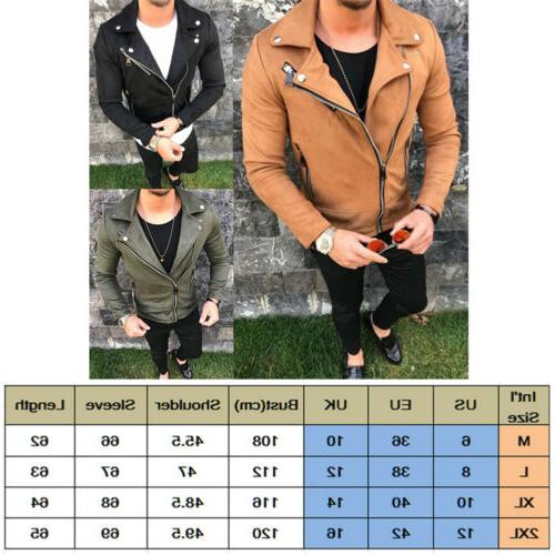 Mens Slim Fit Jackets Motorcycle