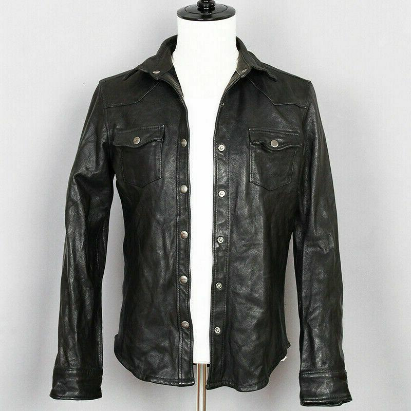 Mens Black Shirt Jacket Casual