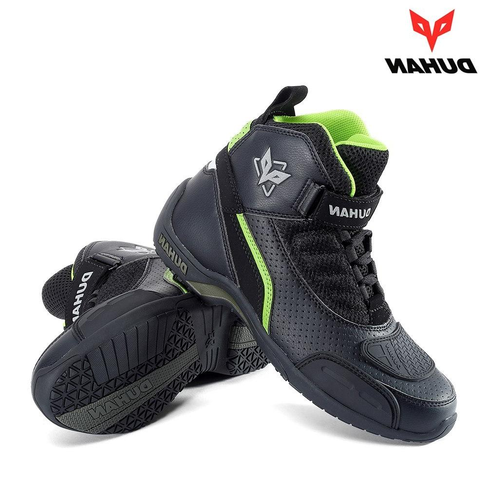DUHAN Motorcycle Summer Breathable <font><b>Moto</b></font> <font><b>Leather</b></font> Motocross Boots Riding Boots