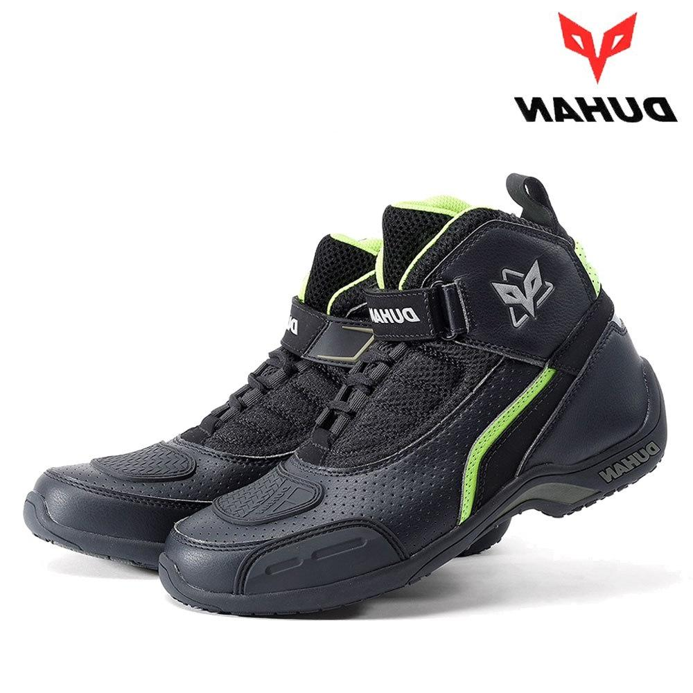 DUHAN Motorcycle Boots Men Summer Boots <font><b>Leather</b></font> Motocross Off-Road Racing Boots Motorbike Riding Boots