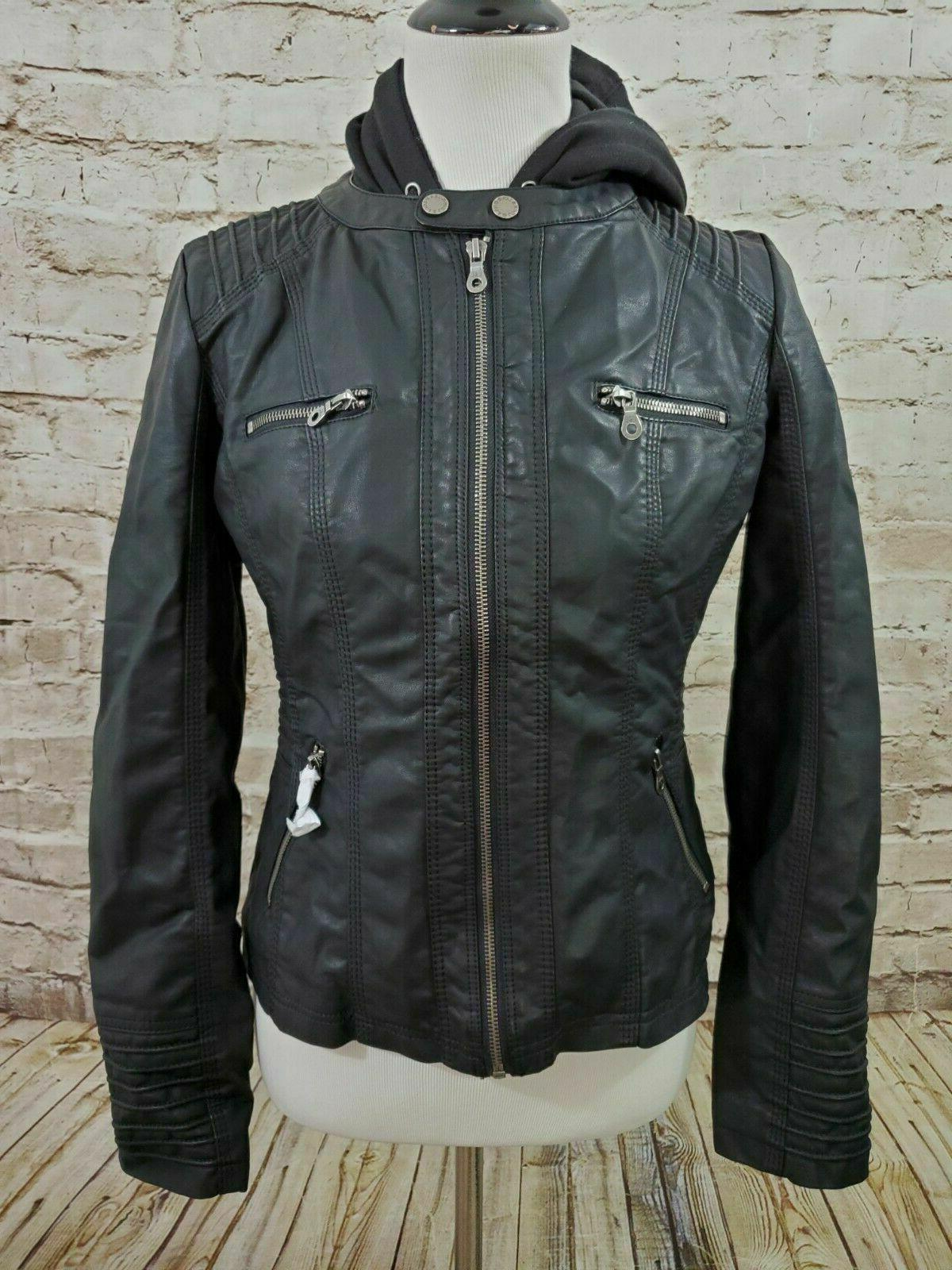 motorcycle jacket small black wjc663 womens nwt