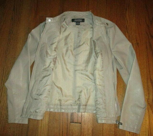 KENNETH Neutral Zip Jacket Sz NWOT