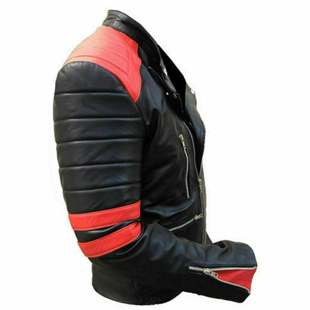 New 100% leather jacket motorcycle leather