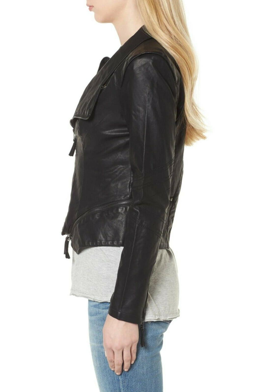 New BlankNYC Blank Women's Black Faux Jacket Size