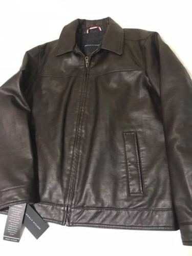 new brown leather men s jacket size