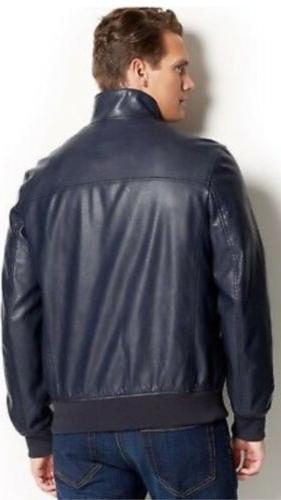 Tommy Hilfiger NEW Mens Size Faux-Leather Bomber full HOODLESS