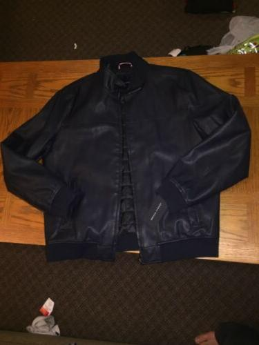Tommy NEW Mens XL Bomber full HOODLESS