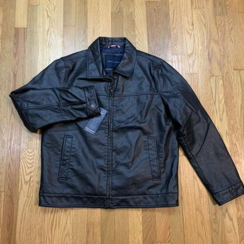 new men s classic faux leather jacket