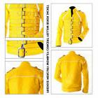 New Men's Freddie Mercury Wembley Concert Yellow Biker Jacke