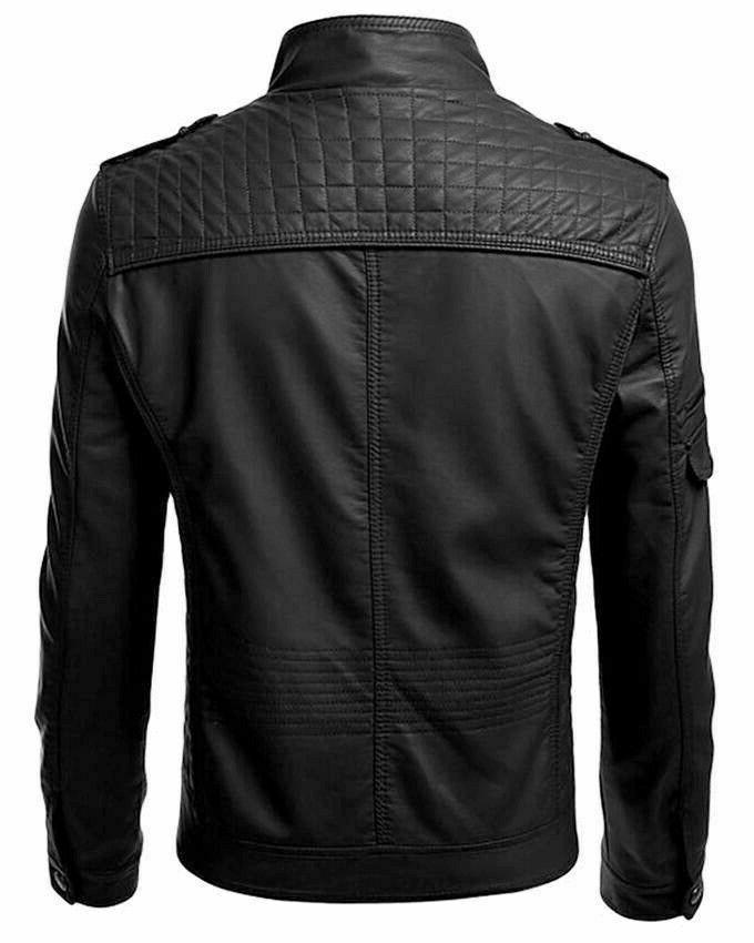 New Men's Leather fit Motorcycle