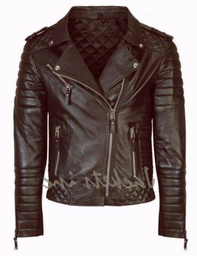 New Leather Jacket BLACK BROWN Slim jacket