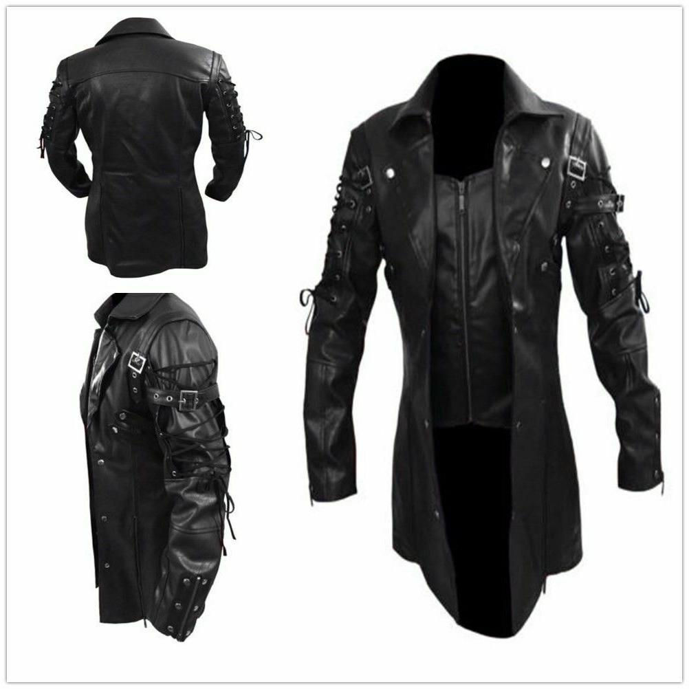 new men s steampunk gothic faux leather
