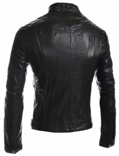 Soft Real Biker Style Jackets 1013