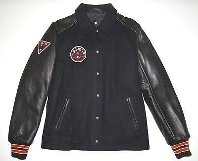 New DC Shoes Mens Schott NYC Leather Wool Varsity Snap Up Ja