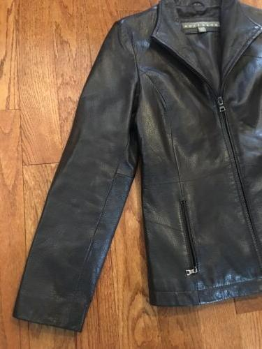 Kenneth Reaction no Black Womens Size Leather Jacket