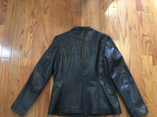 Kenneth Reaction NEW no tag Black Womens Size Small Leather Jacket $148