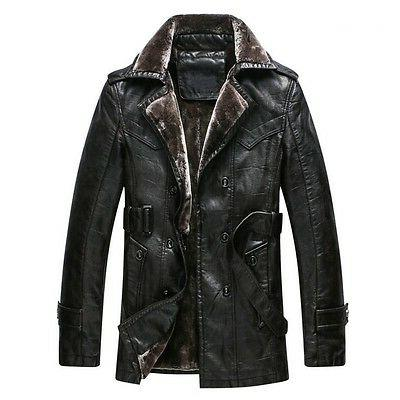 New Winter Thicken Men's Leather Faux Jackets Coats