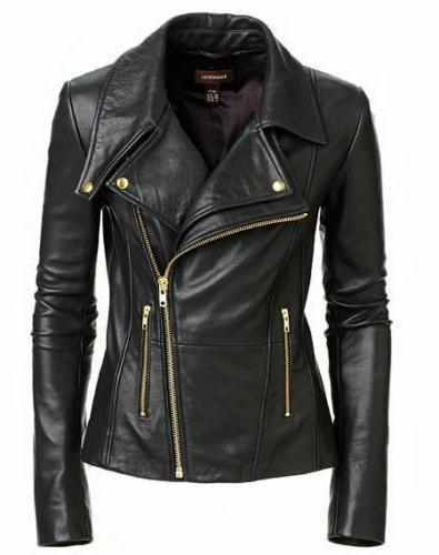 new women s black slim fit biker