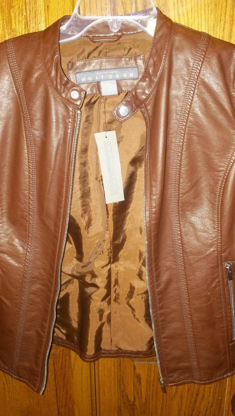 New Reaction Women's Leather Moto Large