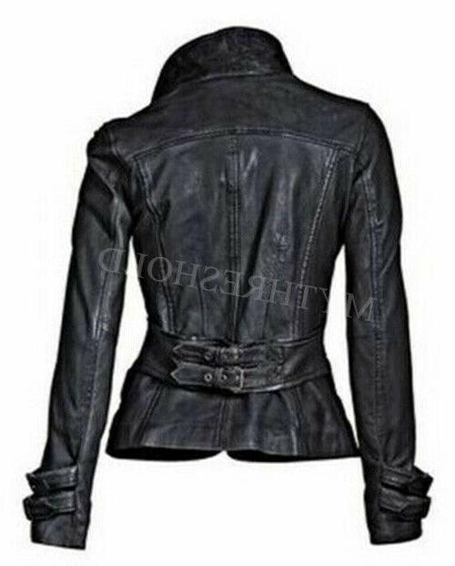 New Women's Genuine Soft Slim fit Biker