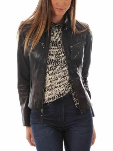 new womens leather jacket black 100 percent