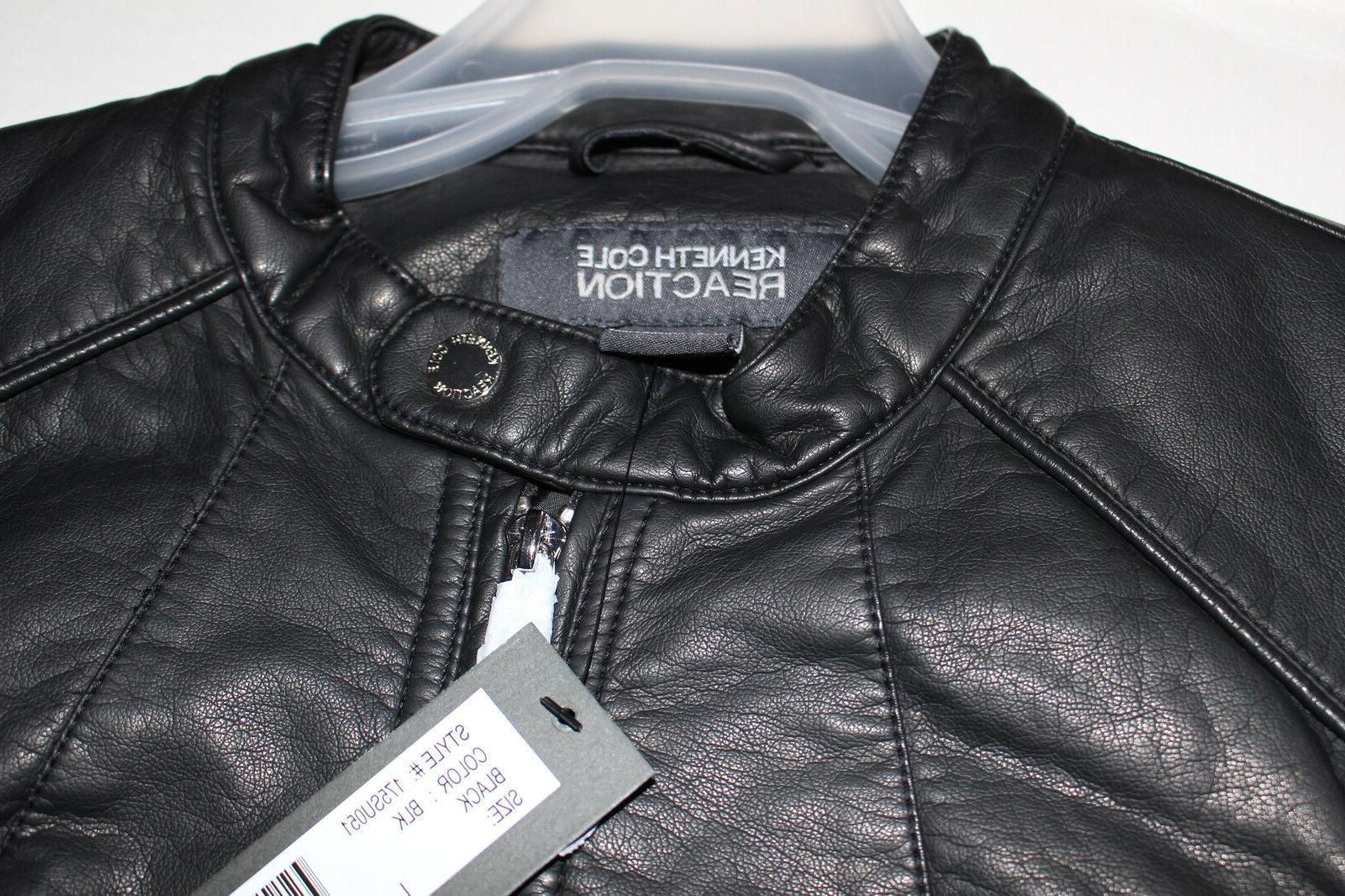 NWT Kenneth Cole Ladies' Motorcycle style Black L