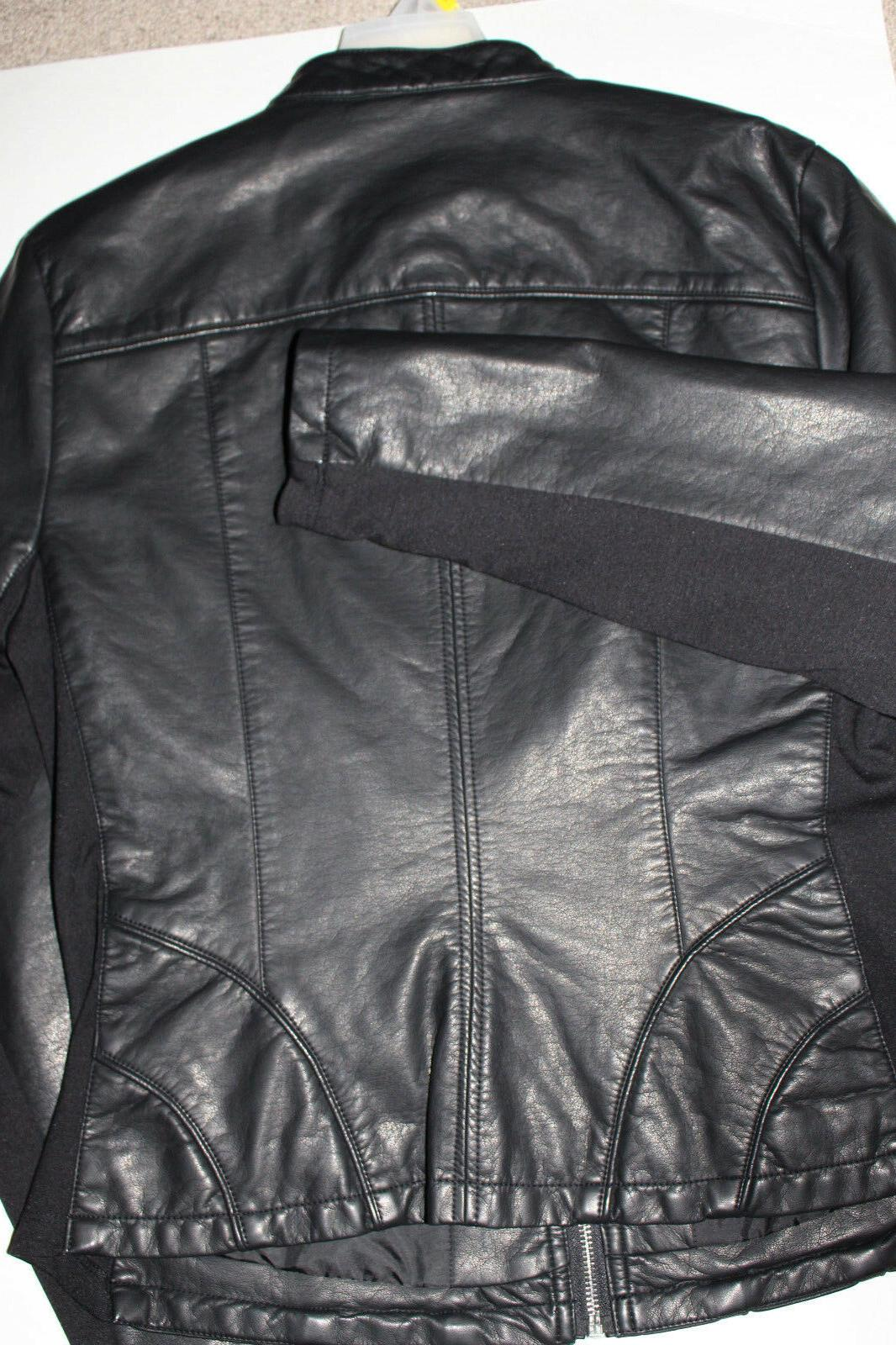 NWT Cole Reaction Ladies' Leather Motorcycle style Black