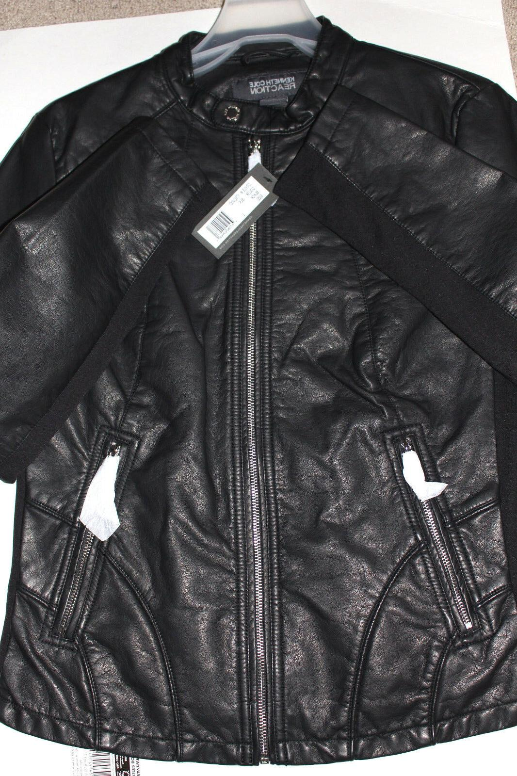 NWT Kenneth Cole Reaction Ladies' Leather Jackets, stye, colors,S,L