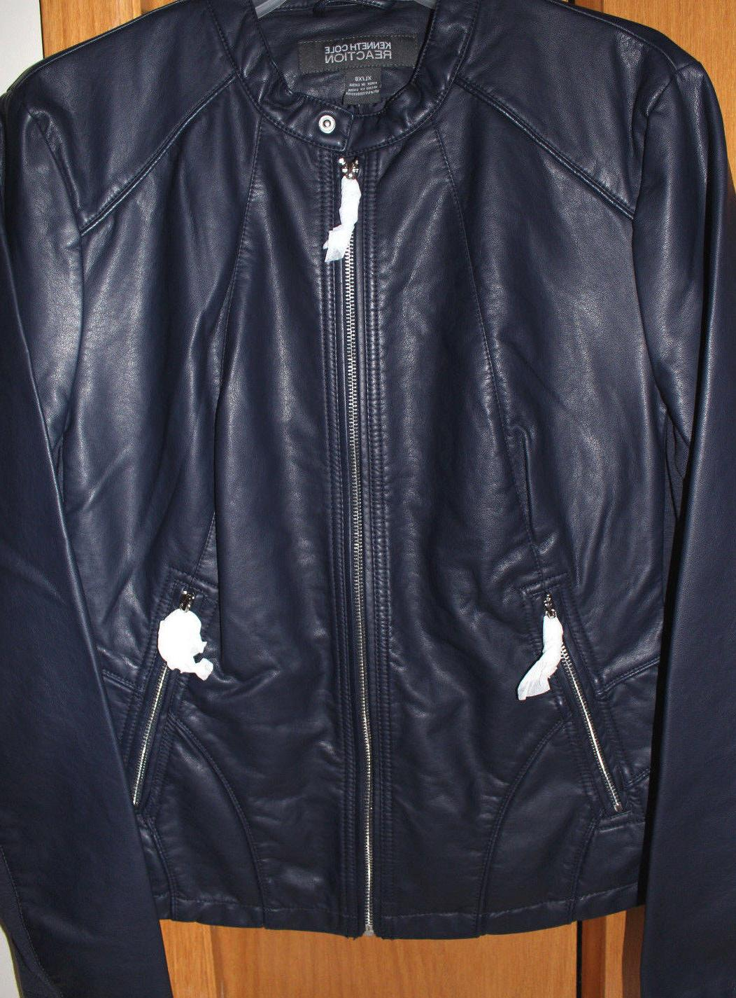 nwt ladies leather jackets motorcycle style black