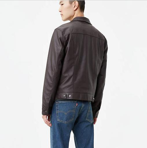 NWT Levi's Brown Faux Leather Jacket Nice S