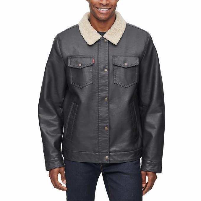 nwt levi s mens faux leather sherpa