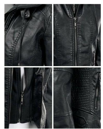 NWT LL Hooded Leather Jacket XL