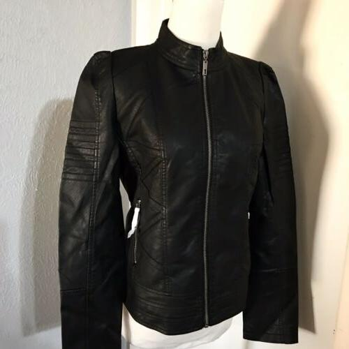 NWT-Made BLACK CHIC MOTO ZIP SZ. S