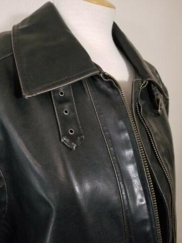 NWT! Men's Dark Distressed Leather Jacket