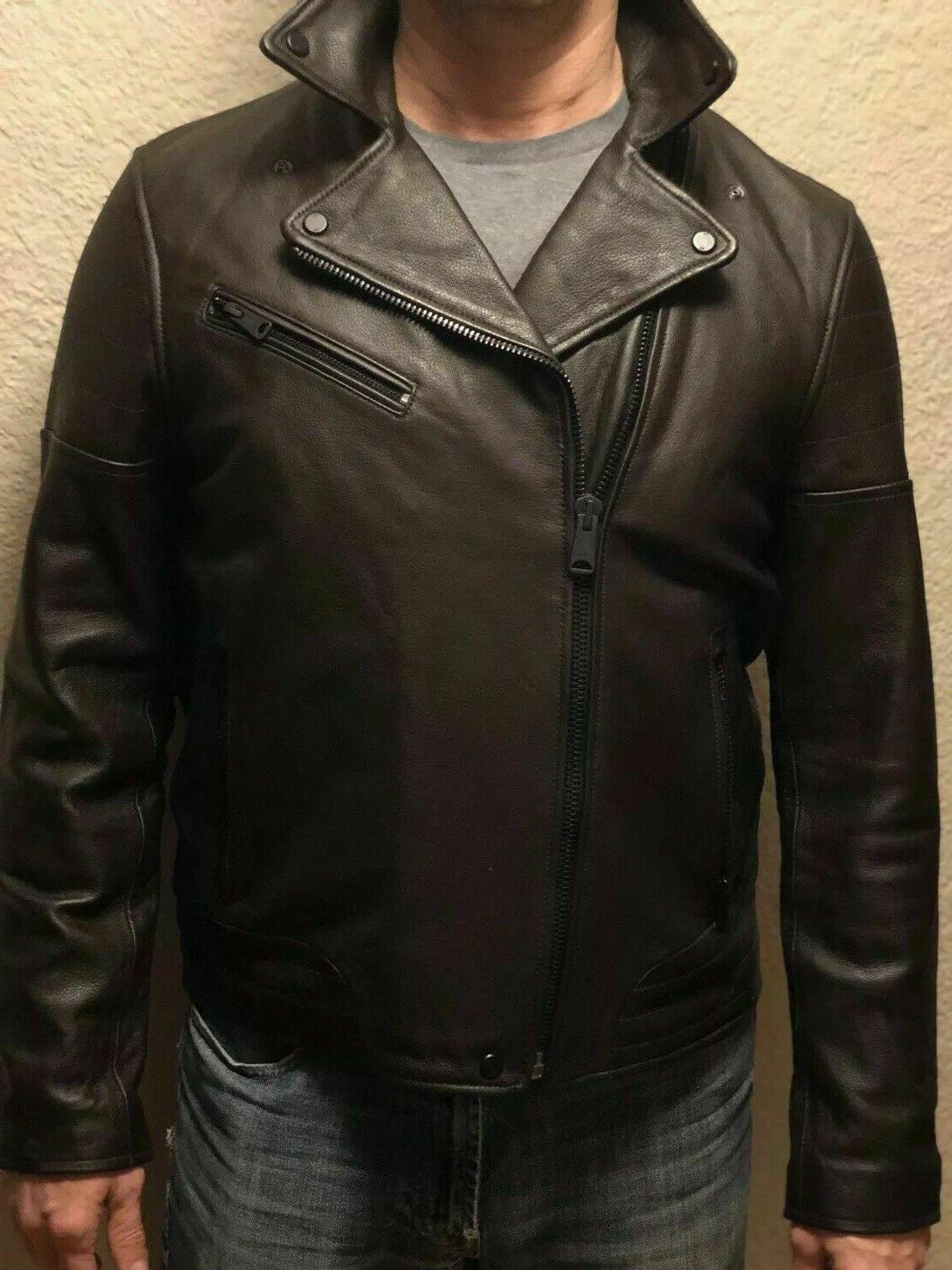 NWT TOMMY MEN'S FALL BROWN LEATHER JACKET XXL Retail