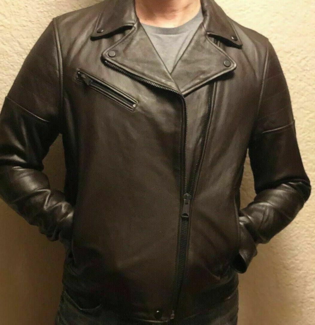 NWT TOMMY FALL BROWN MOTO JACKET Retail $499